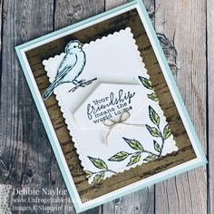 Sunday Fun Day: Free as a Bird Nature card You Mean The World To Me, Paper Crafts, Diy Crafts, Bird Cards, Note Cards, Stampin Up, Stamp Sets, Birch, Projects