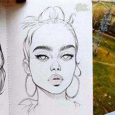 Fabulous Drawing On Creativity Ideas. Captivating Drawing On Creativity Ideas. Pencil Art Drawings, Art Drawings Sketches, Realistic Drawings, Cute Drawings, Drawing Faces, Girl Face Drawing, Drawing Portraits, Person Drawing, Art Faces