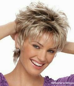 Incredible Ideas: Shag Hairstyles Over 50 bangs hairstyles black girl.Women Hairstyles Over 50 Pixie Cuts hairstyles Braided Hairstyles. Short Shag Hairstyles, Short Hairstyles For Women, Shaggy Haircuts, Hairstyle Short, Amazing Hairstyles, Wedding Hairstyles, Messy Hairstyles, Curly Haircuts, Blonde Hairstyles