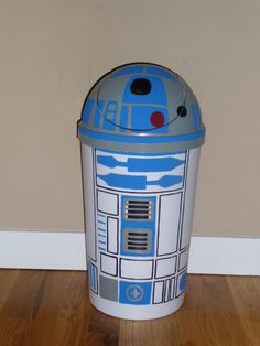 R2 D2 trash can for my son's room