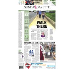 The front page of the Taunton Daily Gazette for Sunday, Oct. 4, 2015.