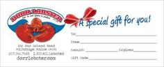 Send the gift of Lobster with a dorrlobster.com gift certificate!