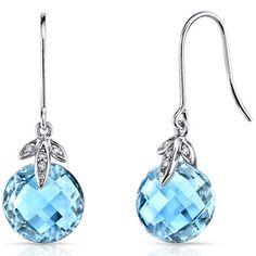 Peora.com - 14 kt White Gold 9.25 Carats Swiss Blue Topaz Diamond Earrings E18772, $229.99 (http://www.peora.com/14-kt-white-gold-9-25-carats-swiss-blue-topaz-diamond-earrings-e18772/)