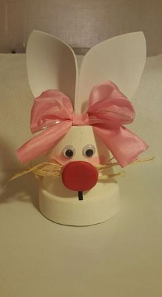 Clay Pot Easter Crafts - Craft and Beauty Easter Projects, Bunny Crafts, Easter Crafts For Kids, Easter Ideas, Flower Pot Crafts, Clay Pot Crafts, Flower Pots, Flower Ideas, Flowers