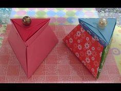 563.삼각뚜껑상자접기.오월의장미.삼각상자접기.origami - YouTube
