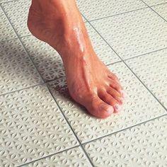 Non-Slip Bathroom Floor