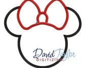 Mickey heads - Basic Mickey/Minnie outlines (2 designs) - Embroidery Machine Design - Applique - Instant Download - David Taylor Digitizing