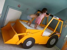 Front End Loader Bed Woodworking Plan Twin Size By