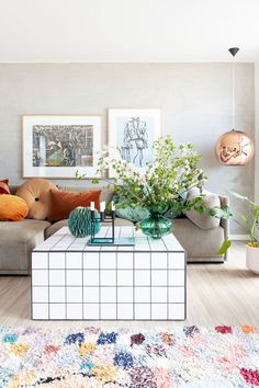 The Flowerpot table lamp by - an enduring piece even 50 years after it was designed. Available as pendants and table… Little Houses, Eames, Interior Inspiration, Sweet Home, New Homes, Gallery Wall, Diy Projects, Kids Rugs, House Design