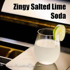 seltzer water, lime, salt