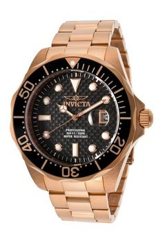 32031b0a7334dd Invicta Men s Pro Diver 18K Rose Gold Plated Casual Watch by SWI Group on   HauteLook
