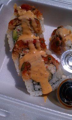 Roll Plus, Spicy Tuna Shrimp Tempura Roll