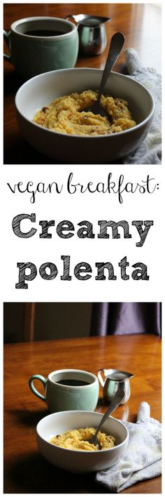 Creamy polenta: An easy vegan breakfast or a wonderful side dish with sun-dried tomatoes | cadryskitchen.com