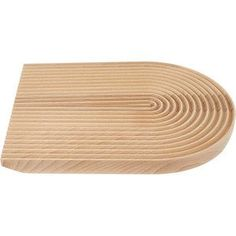 Field Rounded Bread Board. Solid beech wood serving board, with beautiful grooves designed to catch crumbs.