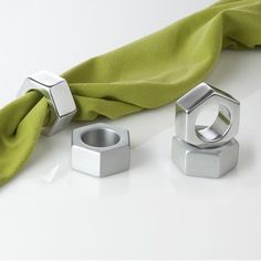 Museum of Robots Nut Napkin Ring in Polished (Set of 4) (I want this green with different rings)