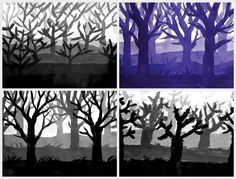 Gradation/tonal lesson- might be good for halloween inspired work
