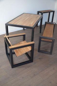 Coup dœil sur les meubles Hewel mobilier en bois et métal. Mélange de style…