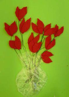 Textiel tulpen (doorklikken voor volledige uitleg).