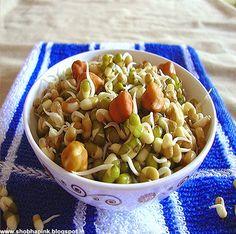 Mix Sprouts Chat Batata Vada, Veg Sandwich, Salad Recipes, Healthy Recipes, Sprout Recipes, Bean Sprouts, Recipe Mix, Serving Plates, Coriander