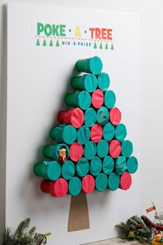 This simple game tucks the presents away inside a tree, not below it! Have kids take turns punching through the tissue paper to receive a prize. Get the tutorial at Fun365. What you'll need: Green paper cups ($3, orientaltrading.com); Tissue paper ($15, orientaltrading.com); Rubber bands ($5, orientaltrading.com)
