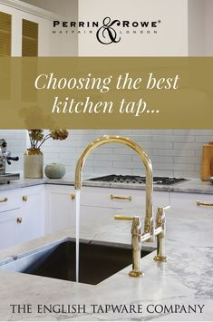 Perrin & Rowe Kitchen & Laundry Taps are still made in the UK to the highest standards. Available in Australia. Brass Tap, Mayfair London, Kitchen Taps, Traditional Kitchen, Cabinet Hardware, Polished Brass, Cool Kitchens, Kitchen Design, Laundry