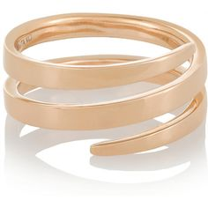 Anita Ko Coil 18-karat rose gold phalanx ring (€980) ❤ liked on Polyvore featuring jewelry, rings, accessories, gold, anita ko, red gold jewelry, rose gold jewelry, red gold ring and anita ko jewelry