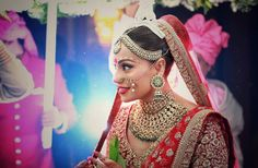Bipasha Basu's Wedding Outfit: Red and Golden