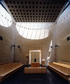 Cymbalista Synagogue in Israel is a modern example of Jewish architecture. Unlike the ancient Jewish temples that had a Holy of Holies, modern synagogues have a Holy Ark or Aron Kodesh where the Torah scrolls are held. It is the holiest place in a synagogue.