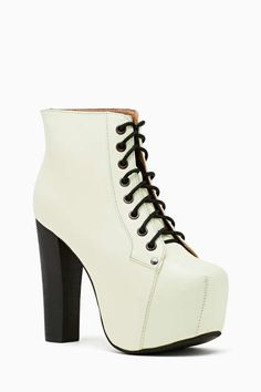 OBSESSED with these Jeffrey Campbell Lita Platform Boot - Glow In The Dark, from Nasty Gal #gimme!!