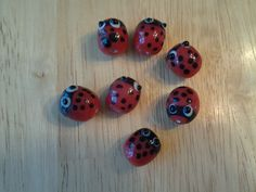 Set of 7 Glass Lady Bug Design Necklace by EastIdahoCompany, $7.99