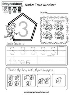 Kindergarten Numbers Worksheets - Learning numbers is a fun activity. Number Worksheets Kindergarten, Teaching Numbers, Numbers Preschool, Math Numbers, Preschool Math, Worksheets For Kids, Preschool Education, Tracing Worksheets, Maths