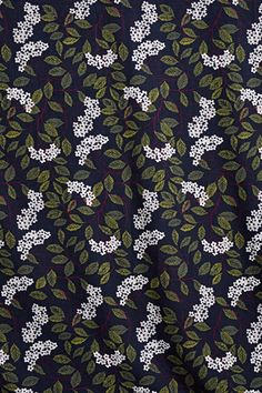 Unique leaves, Printed and Patterned Needlecord Fabric - Seasalt Cornwall Textile Prints, Floral Prints, Textiles, Dressmaking Fabric, Elderflower, Subtle Textures, Fabric Shop, Vintage Sewing Patterns, Fabric Design