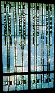 frank lloyd wright glass design windows