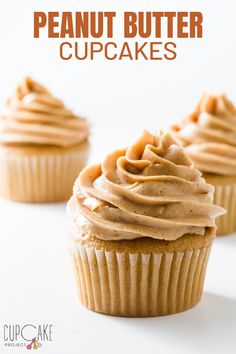 Cupcake Recipes 121175046211748840 - These peanut butter cupcakes are for the true peanut butter lover. They taste like peanut butter cookies in cupcake format! Top them with peanut butter frosting for extra PB goodness! Source by cupcakeproject Butter Cupcake Recipe, Peanut Butter Frosting, Peanut Butter Recipes, Peanut Butter Cookies, Simple Cupcake Recipe, Chocolate Peanut Butter Cupcakes, Cookie Butter, Nutter Butter, Chocolate Cheesecake