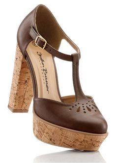 brown heels #bonprix #shoes