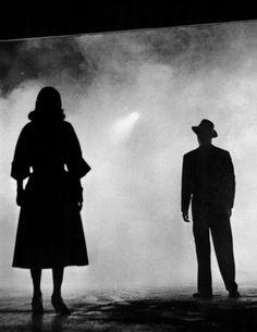 Film Noir Influence  (via Film Noir Photos: Light and Shadow: Jean Wallace & Cornel Wilde)