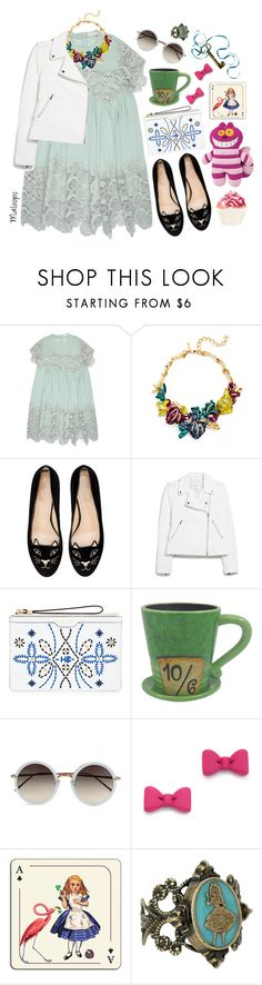 """""""// I knew who i was this morning but i've changed a few times since then-Alice in Wonderland//"""" by maloops ❤ liked on Polyvore featuring Chloé, Oscar de la Renta, Charlotte Olympia, MANGO, Henri Bendel, Disney, Linda Farrow, Marc by Marc Jacobs, Avenida Home and disney"""