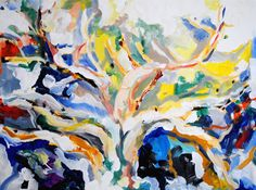 Original Acrylic Painting Tree by SBGallery on Etsy, $420.00