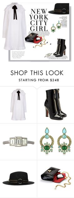 """1171"" by railda-pereira ❤ liked on Polyvore featuring VIVETTA, Valentino, H&M, Trilogy, Roberto Cavalli, The Kooples, Aspinal of London, white, black and Boots"