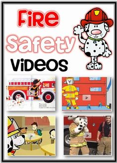 Fire Safety Week Videos including books and songs plus informational videos for fire safety week and October.