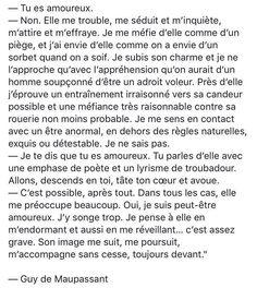 """""""Tu es amoureux. (...)"""" - Guy de Maupassant"""