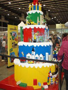 huge lego cake by sidstamm, via Flickr