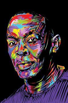 Dr. Dre Canvas Wall Art by TECHNODROME1 | iCanvas Canvas Art Prints, Canvas Wall Art, Music Canvas, Hip Hop Art, African American Art, Art Music, Urban Art, Female Art, Illustration Art