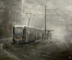 Illusion: An oil painting by Francis McCrory. http://illusion.scene360.com/news-community/luas-in-the-mist/
