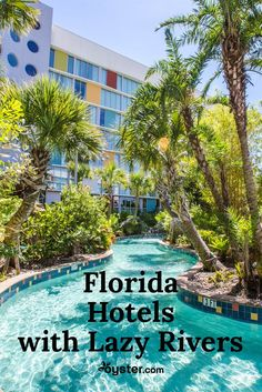 Splashing around at the beach or the pool is fun, but so is floating along a lazy river! Check out these 14 Florida hotels that offer lazy rivers for both kids and adults alike. Florida Vacation Packages, Florida Resorts, Orlando Resorts, Visit Florida, Destin Florida, Florida Travel, Florida Beaches, Orlando Florida, Florida Living