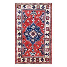 Herat Oriental Afghan Hand-knotted Tribal Vegetable Dye Kazak Red/ Rug