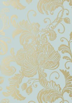 Verey - Metallic Gold on Aqua wallpaper, from the Seraphina Wallpaper collection by Anna French Anna French Wallpaper, Aqua Wallpaper, Luxury Wallpaper, Custom Wallpaper, Designer Wallpaper, Stripped Wallpaper, Beautiful Wallpaper, Drops Patterns, Miss Marple