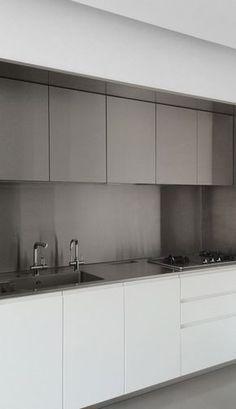 周正峰設計工作室 Marty Chou Architecture_The Element Apartment - Kitchen Kitchen Room Design, Kitchen Dinning, Modern Kitchen Design, Interior Design Kitchen, New Kitchen, Kitchen Decor, Custom Kitchens, Home Kitchens, Kitchen Interior Inspiration