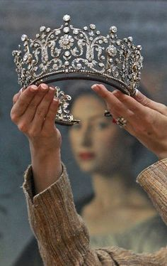 Princess Margaret's wedding tiara~Poltimore Tiara. It's an antique piece, made by Garrards in 1870. it was sold in 2006 as a part of an auction of Margaret's jewelry after her death.