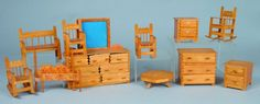 11 Pieces Popsicle Stick Doll Furniture